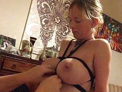 Boltonwife tied tits bondage fuck 1