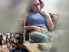 Babysitter caught masturbating to lesbian porn
