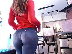Wife in front of webcam #2