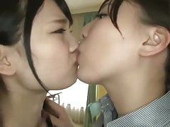 Slutty Wet Lesbian Sex in School in Japan