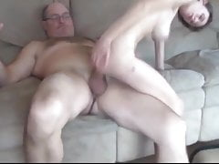 Old Man with Very Big Cock Fuck Skinny and Busty Teen