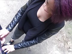 GERMAN TINDER TEEN LARA LATINA FUCK OUTDOOR AT FIRST DATE