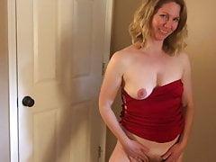 MILF in Red Dress Fucked (POV)