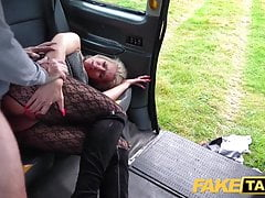 Fake Taxi Blonde babe horny tourist masturbates and fucks