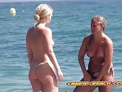 Amazing hot Blonde Nudist Milfs Spied At beach Voyeur Cam