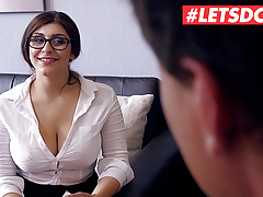 LETSDOEIT Big Tits Teen July Johnson Bangs The Boss At Work