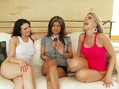 Neighbor Invitation turns into Crazy Sexy Lesbian Sex Orgy