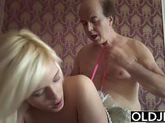 Pprincess sex doll fucks old man, blowjob and cock